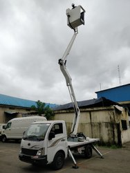 Street Light Maintenance Boomlift Skylift on Tata Ace Chota Haathi