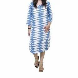 Cotton Printed Ladies Stylish Western Wear Dress