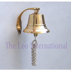 Brass Hanging Bell Wall Mounted
