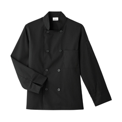 Poly-Viscose Full Sleeve Black Hotel Chef Coat