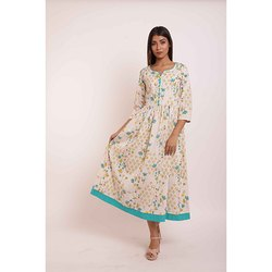 Cotton Printed Gathers Kurti