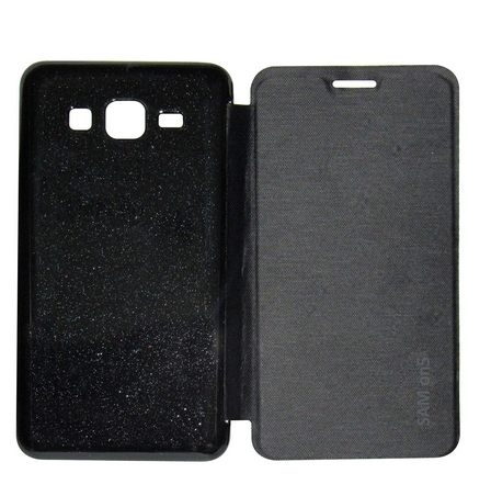 half off 4fcd9 d5868 Flip Cover For Samsung Galaxy On 5 Black