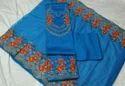 Unstitched Cotton Reet Glamour Royal Blue Embroidered Punjabi Suit