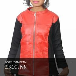 Black and Red Color Girl Jacket