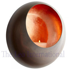 Round shape decorative iron metal Candle votive Holder