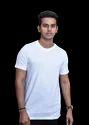 White Plain and Printed Round Neck T Shirt