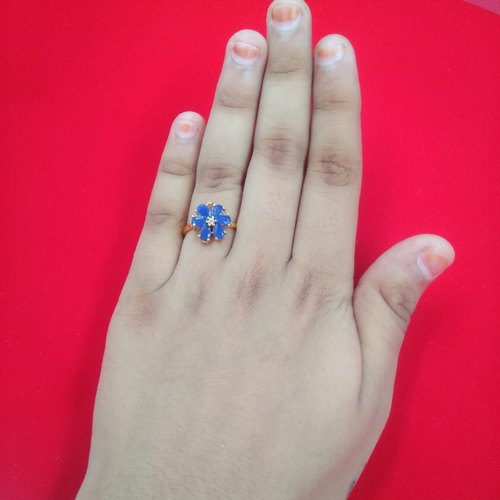 Braas Golden New Model Latest Design Finger Ring Women And