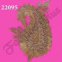 Designed Gold Zari Work Patch
