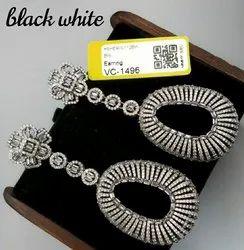 Vivah Creation Brass American Diamond Earrings