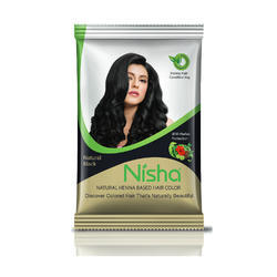 Natural Black Nisha Henna Based Hair Color 10g Each Packet Made From
