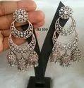 Ri Women Chandbali Style American Diamond Earring