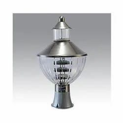 LED Black Metal & Glass 12W Gate Light, For Decorative