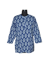 Women''s Indigo Cotton Kurta