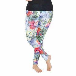 Mid Waist Ladies Floral Print Legging, Casual Wear, Slim Fit
