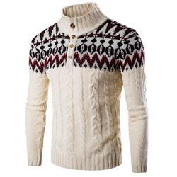 Mens Stand Collar Sweater