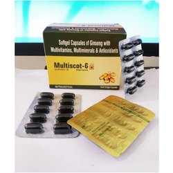 Softgel Capsules of Ginseng with Multivitamins, Multiminerals & Antioxidants