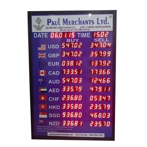 Led Bank Rate Of Interest Display