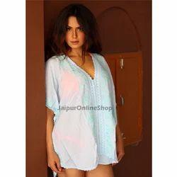 Half Sleeves Bollywood Gypsy Hippie Embroidered Beachwear Kaftan