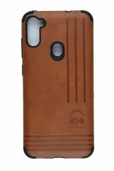 Leather Samsung galaxy m11 cover