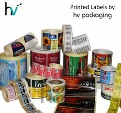 Multicolor Paper / FIlm Printed Labels, for Packaging