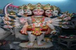 Panchmukhi Hanuman White Marble Statue