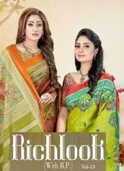Lakhani Richlook With Blouse Piece Vol-13 Running Wear Saree Catalog Collection