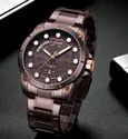 Round Nf9152 Naviforce Day Date Function Analog Stainless Steel Watch