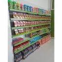 8 Feet Mild Steel Super Market Store Wall Display Rack, 6 Shelves