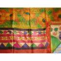 Designer Tussar Hand Print Saree