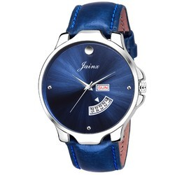 Jainx Blue Day and Date Round Dial Analogue Watch for Men & Boys JM303