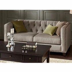Tan Leather Modular Sofa