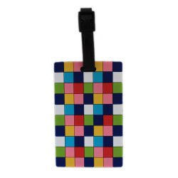 Luggage Tag Chequered Abstract Design - (6LNT56)