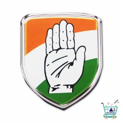 mulit colour congress party logo rs 425 piece arts n prints id