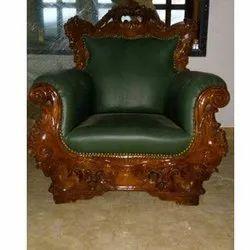 Star Teakwood Green Sofa Chair