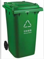 Plastic LDPE Green Wheelie Bin, Size: 50 Litre