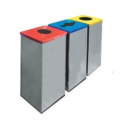 Rectangular Outdoor Recycle Bin