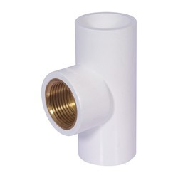 Unique UPVC Brass Tee, for plumbing solution Size: 3/4 inch