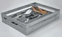 600mm SS Satin Cutlery Drawer Insert