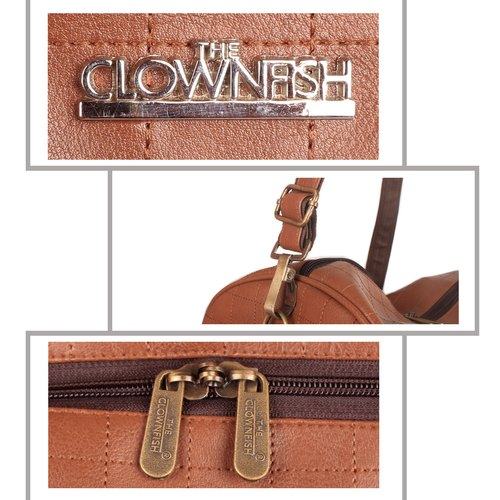 34c9bd2812 Faux Leather The Clownfish Neptune 26 Liters Travel Duffel Bag (Caramel