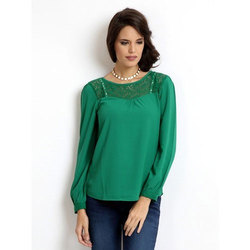Green Cotton Ladies Top