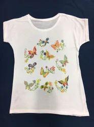 Ladies Butterfly Print Top