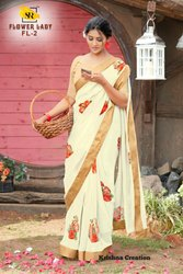 SR Brand Flower Lady Weightless Printed Casual Sarees