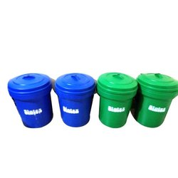 Open Top Green, Blue Sintex Dustbin With Lid