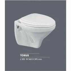 Scoware Ceramic Torus Wall Mounted One Commode, For Bathroom Fitting