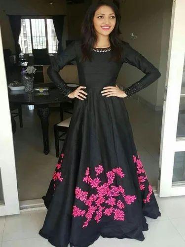 56226c4fc6 Fancy Long Gown, Ladies Gown Suit, Women Gown - Style Amaze, Surat ...