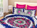 Cotton Printed Double Bed Sheet with 2 Pillow Cover