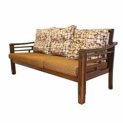 Modern Living Room Wooden Three Seater Sofa