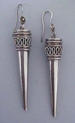 Jewel Ora Women Traditional Silver Earring, 30 To 40gm