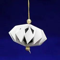 Plain White Handmade Paper Ornament