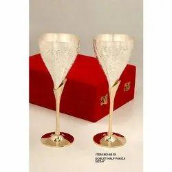 Brass Golden Gold Plating Glass
